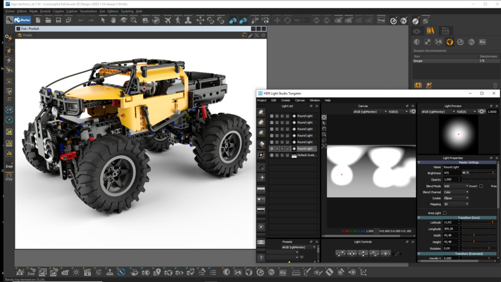 compatibility with hdr light studio